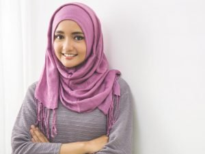 Pearly Purple Cotton Hijab