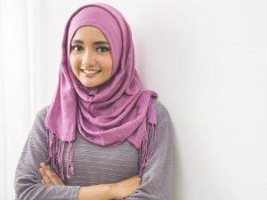 Pearly Purple Cotton Hijab