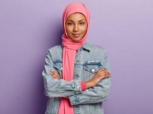 Pink Georgette Hijab