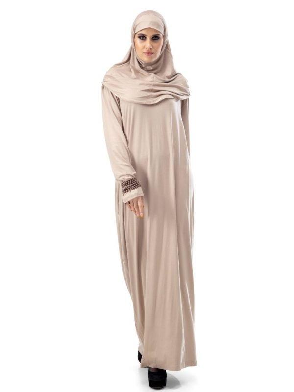 Plain Cream Nida Abaya